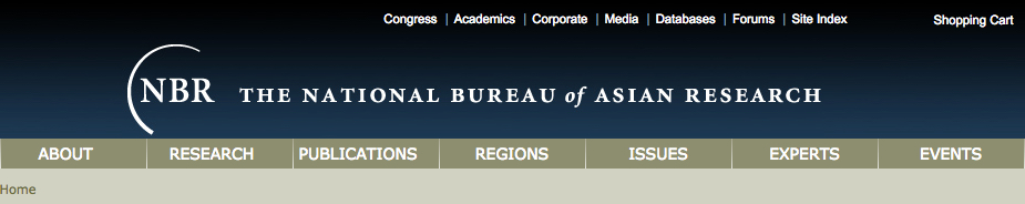 The National Bureau of Asian Research